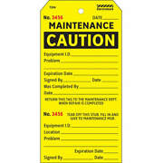 Electromark Y625853 Caution Tag5 3/4in H2 7/8in Wpk100