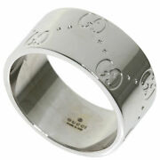 Ring Icon Ring Wide 14 K18 White Gold