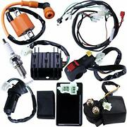 Full Electrics Wiring Harness Coil Ignition Switch Cdi Solenoid Relay Spark Plug