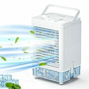Cooling Fan 5000mah Portable Air Conditioner With 3 Wind Speed Portable Ac 800ml