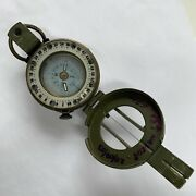 Stanley London British Army Brass Olive Green Prismatic Marching Compass .