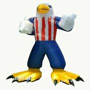 20ft Giant Inflatable Eagle Usa Cartoon Advertising Outdoor With Air Blower