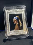 2021 France Vermeer 250andeuro Coin Girl With Pearl Earring 1/2 Kilo Silver Serial 004