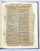 Leaf From First American Bible Translated Into Language Of Algonquin Indians