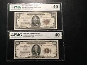 50.00 And 100.00 Chicago Federal Reserve Bank Pmg 40 Xf 1 Is Epq 2 Notes