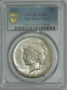 1921 Peace Silver Dollar Ms64 Secure Pcgs 943728-12