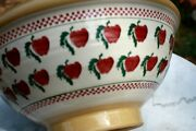 14 Inch Od Diameter Nicholas Mosse Large Bowl Footed Ireland Red Apples