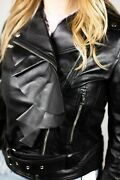 Valentino Embellished Leather Jacket S - Black - Size Small New With Tags