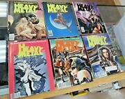 Lot Of 6 Vtg 1989 Heavy Metal Magazines Graphic Novels Xlnt Used Condition Nice