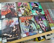 Lot Of 6 Vtg 2010 Heavy Metal Magazines Graphic Novels Xlnt Used Condition Nice