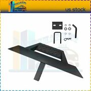 Heavy Duty Iron Towing Hitch Step Bar Black For 2 Receiver Truck Bed