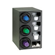 Dispense-rite Stl-c-3lbt Countertop Cup Dispensing Cabinet With 3 Stl-2f And Lid