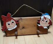 Rare Raggedy Ann And Andy Wall Hanging Antique Vintage Country Dolls Japan 2.7