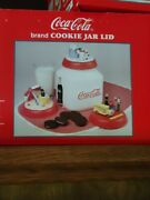 1997 Vintage Coca-cola Cookie Jar Back To School With Changeable Lids Brand New