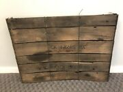 Vintage Mccormick Deering Tractor Part W Wood Shipping Crate Advertising Ih Sign