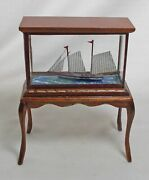 Dolls House Miniature Masters Miniatures Vintage Ship In Glass Case