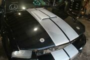07-09 Mustang Shelby Gt Black Hood Aftermarket Scoop W/hood Pin Holes And Stripes