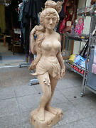 Wood-carved Female Figure 14.3kg Asian Miscellaneous Goods