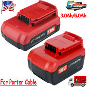 18 Volt 6.0ah For Porter Cable Lithium Ion 18v Max Battery Pc18b Pc18bl Pc18blx