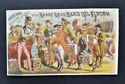1880s Antique Uncle Sam Victorian Ad Card Berry Bros Hard Oil Finish