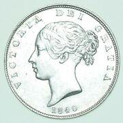 Scarce 1840 Young Head Halfcrown British Silver Coin From Victoria Ef