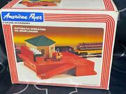 Antique Train Layout American Flyer Automatic Oil Drum Loader In Box 4-2300
