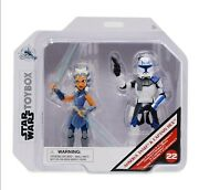 Ahsoka Tano And Captain Rex Action Figure Set Star Wars Toybox In Hand Toy Sale
