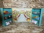Tin Grocery Store, Wolverine Corner Grocer Toy Play Set Litho Picture Carboard