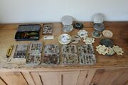 Vintage Collection Of Flies - Fly Fishing And Tins Containers Wheatley Shakespeare