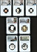 2021 S Silver 7-coin Proof Set First Day Of Issue Ngc Pf70 U.c. Portrait
