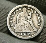 1852 O Seated Liberty Dime 10c - Nice Coin Key Date 430000 Minted 559