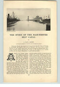 1909 Papier Annonce 9 Pg Article The Story De The Manchester Ship Canal Goode