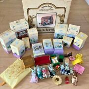 Sylvanian Families Memory Time Wooden Log Cabin With Lots Of Furniture And Dolls