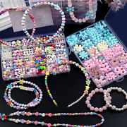 24 Grid Beaded Childrenand039s Toys Diy Handmade Girl Beaded Necklace Bracelet Puzzle