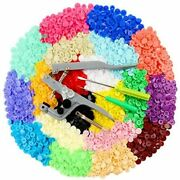 Ilauke 400 Sets Snap Buttons With Snap Pliers T5 Plastic Snaps No-sew Buttons Fa