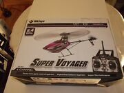 Wltoys V944 Rc Helicopter Rtf 4 Ch...purple/black Color Scheme New Condition