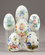 A Collection Of 6 Easter Russian Eggs 100 Authentic Antique 19th Century