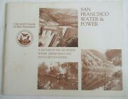 San Francisco Water And Power History Water Dept And Hetch Hetchy System 1985 1st