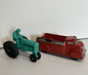 Vintage Auburn Rubber Hard Rubber Truck And Tractor Made In Usa