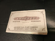 Crane And Co. Paper Makers Artificial Parchment Business Card Stock Blank Antique