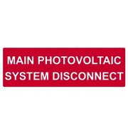 Solar Label Reflective Main Pv System Disconnect 5.5x1.75in V Red Pack Of 1