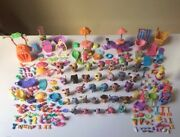 Littlest Pet Shop Lot Set Bundle With 30+ Pets And 100s Of Accesories