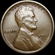 1911-s Lincoln Cent Wheat Penny ---- Stunning L@@k ---- S432