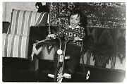 Vintage Snapshot Photo Boy Riding Bicycle Tricycle Children Toys Games 5288f