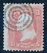 Usa - Stamp 1861 Washington 3andcent Pink Scott 64 No Gum Without Grill Used