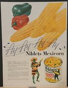 1947 Niblets Mexicorn Corn Jolly Green Giant Print Ad Parker 51 Superchrome Ink
