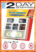 Educational Insights Play Money Coins Bills Tray Set Of 200 Pcs Counting Ages 5+