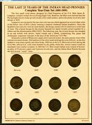 Us  1885-1909 25 Years Of Indian Head Cents