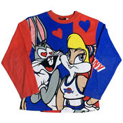 Extremely Rare Vintage 1996 Space Jam Long Sleeve Lola And Bugs Shirt Xs