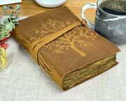 Leather Journal For Women Handmade Leather Bound Writing Notebook Deckle Edge